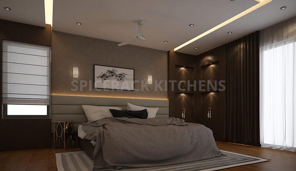Cosy Brown Texture Bedroom Design