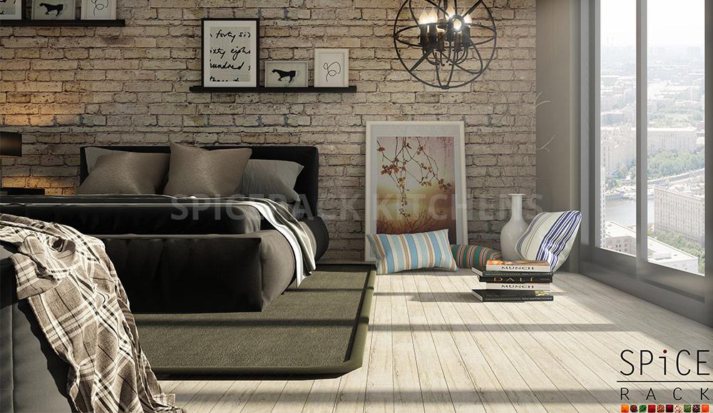 Delight Cozy Brick Wall Bedroom Design