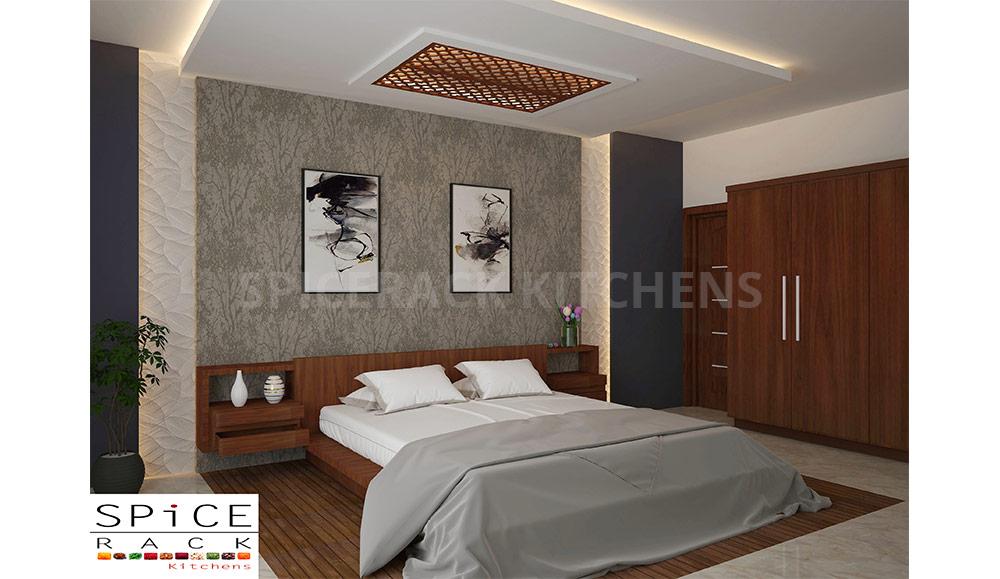 Brown Texture Elegant Master Bedroom