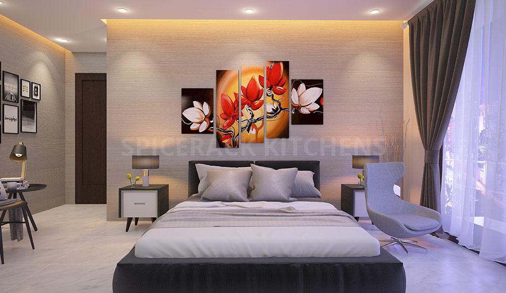 Brown Cream Contrast Bedroom Design