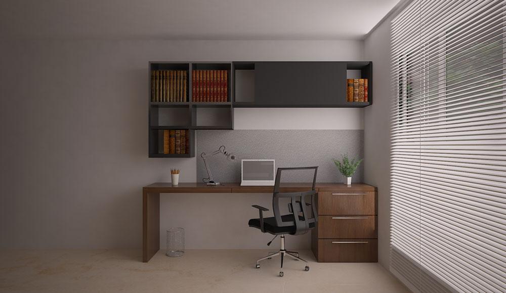 Bedroom Corner Study Unit Design