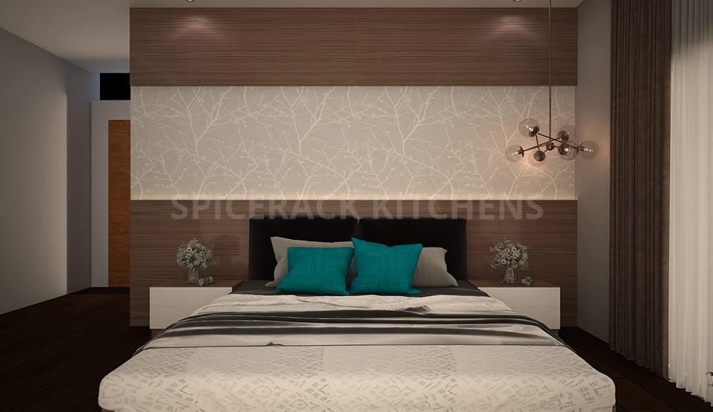 Brown Texture Wall Bedroom Design