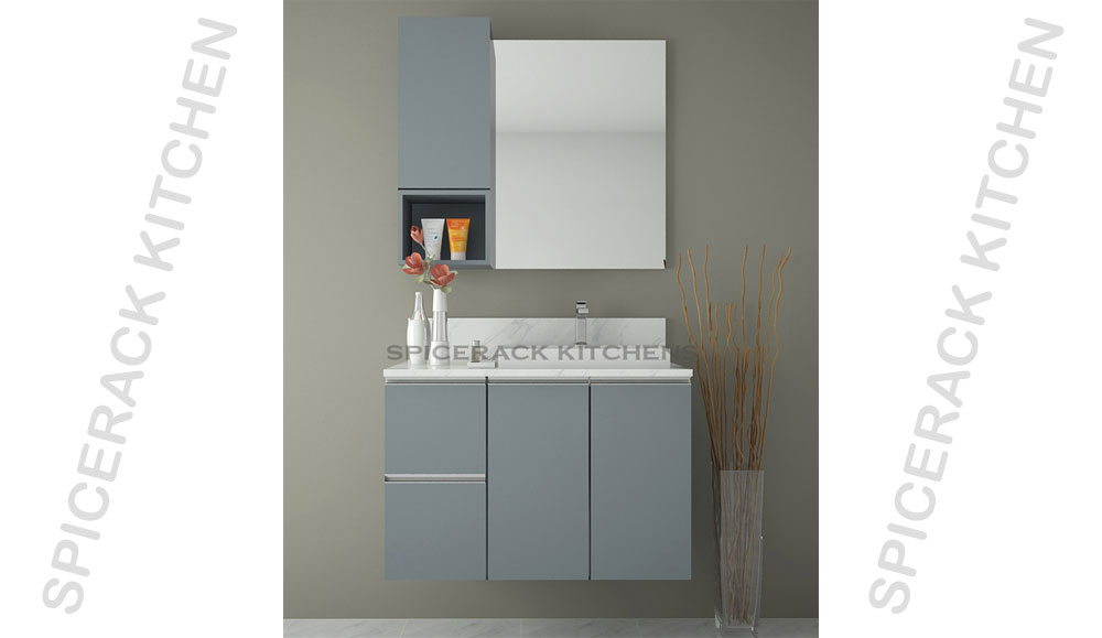 Bathroom Grey Cabinets