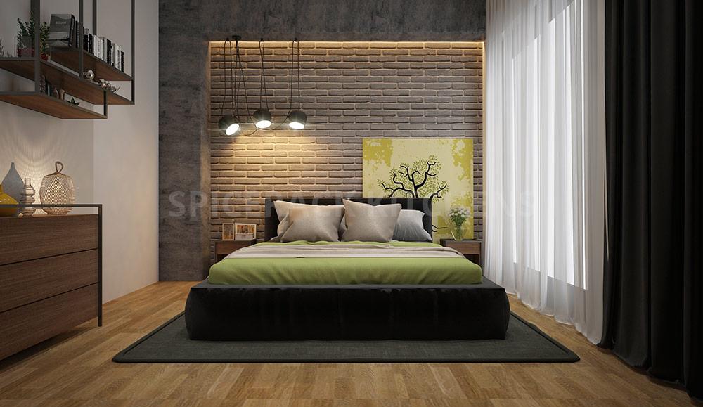 Brick Wall Design Structure Bedroom Design