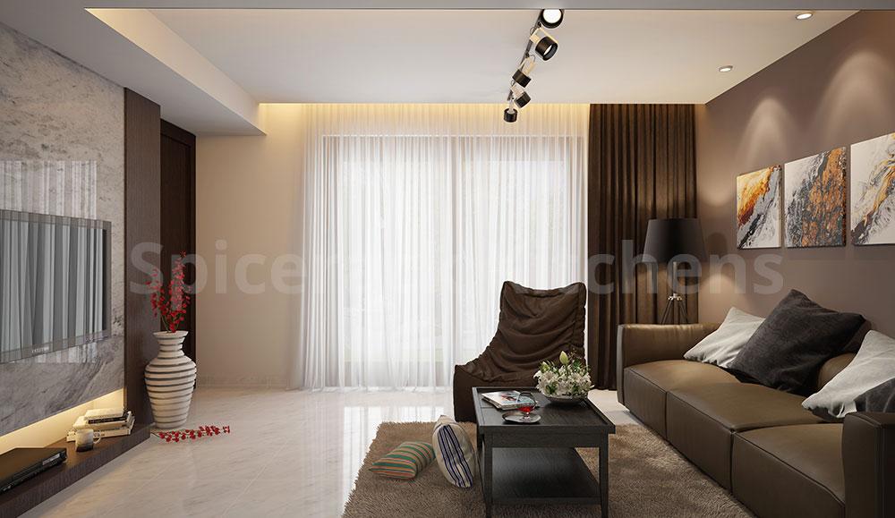 Living ARea Brown Texture Design